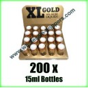 200 x XL Gold poppers wholesale